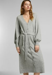 Esprit - LONG DRESS - Maxi dress - medium grey - 0