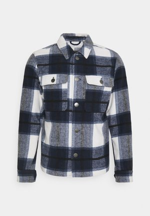 JUSTAN CHECKED OVERSHIRT JACKET - Summer jacket - navy blazer