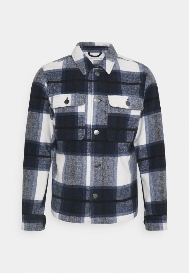JUSTAN CHECKED OVERSHIRT JACKET - Tunn jacka - navy blazer