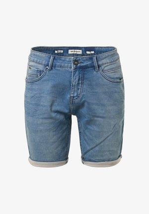 Jeansshort - bleach denim