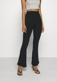 Missguided - FLARE TROUSERS 2 PACK - Kalhoty - black/ dark grey - 2