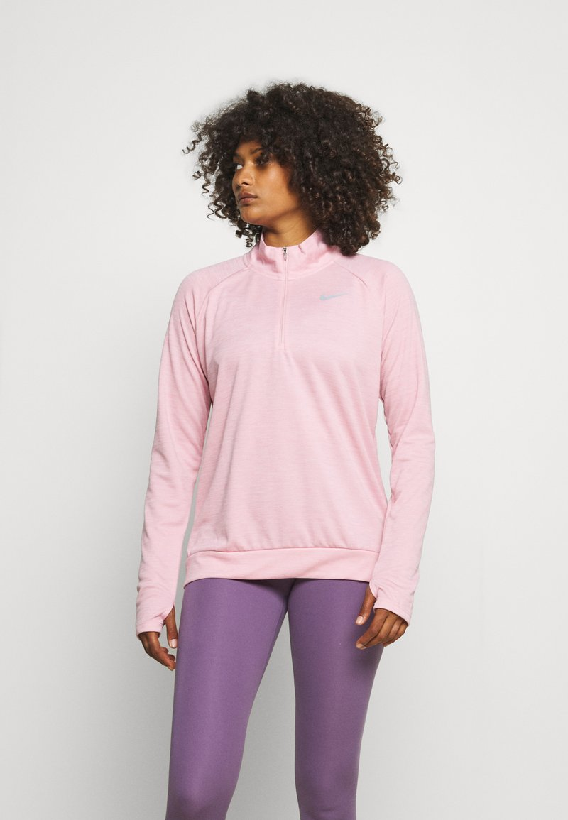 Nike Performance - PACER - Sports shirt - pink glaze/heather/reflective silver