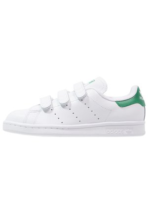 STAN SMITH LACE-FREE SHOES - Sneaker low - footwear white / green