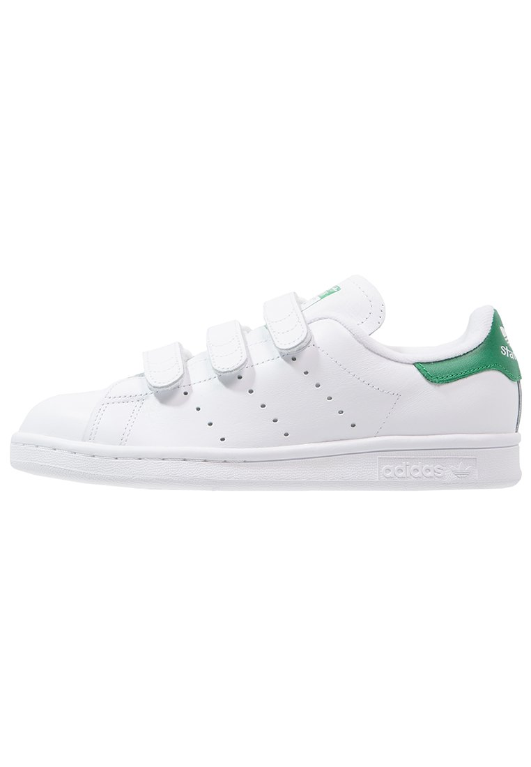 adidas Originals - STAN SMITH LACE-FREE SHOES - Baskets basses - footwear white / green