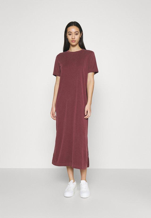 ISABELLA DRESS - Jerseyjurk - red dark vin