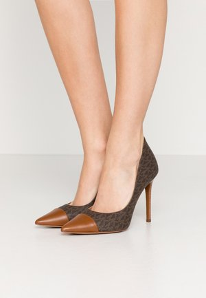 KEKE TOE CAP - Højhælede pumps - brown/luggage