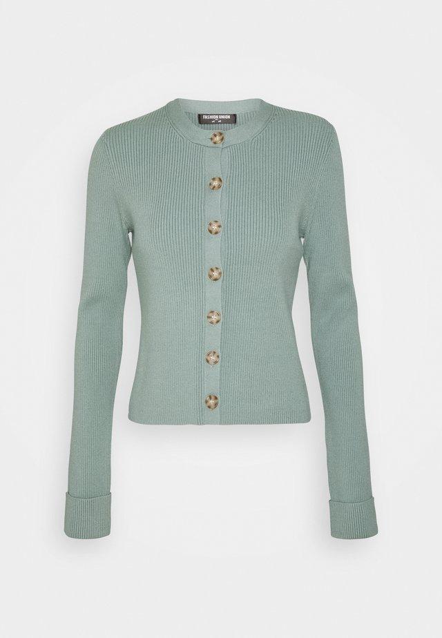 FLOWLER CARDI - Vest - green