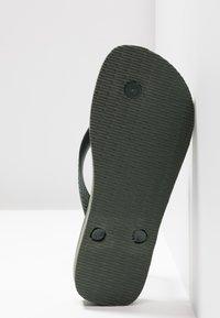 Havaianas - BRASIL LOGO - Pool shoes - green olive - 8