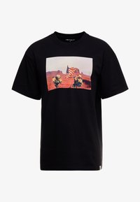 Carhartt WIP - MATT MARTIN FLAGS T-SHIRT - T-shirt con stampa - black - 4