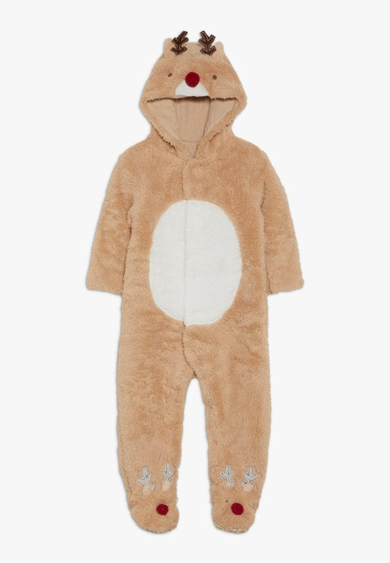 mothercare - BABY FESTIVE FLUFFY REINDEER - Overal - light brown