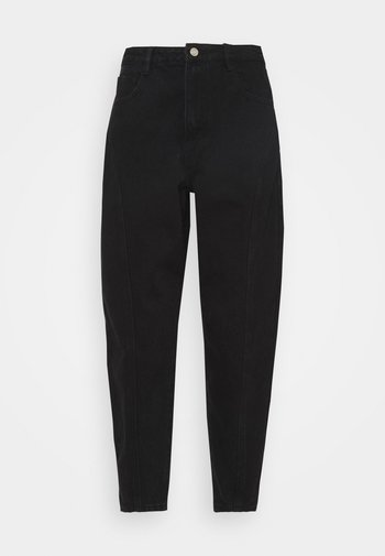 SEAMED LEG - Jeans Tapered Fit - black