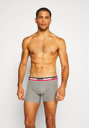 MEN LOGO BOXER BRIEF 2 PACK - Onderbroeken - black/grey melange