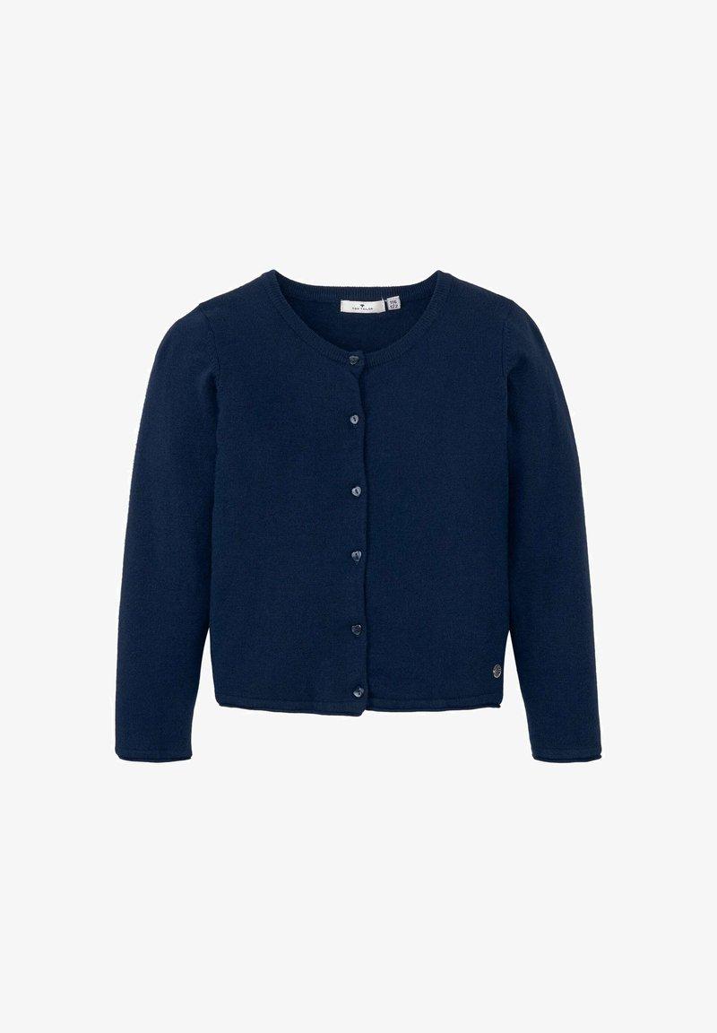 TOM TAILOR - MIT HERZ-ARTWORK - Cardigan - dress blue|blue