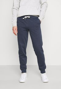 Pier One - 2 PACK - Tracksuit bottoms - mottled light grey/mottled dark blue - 3