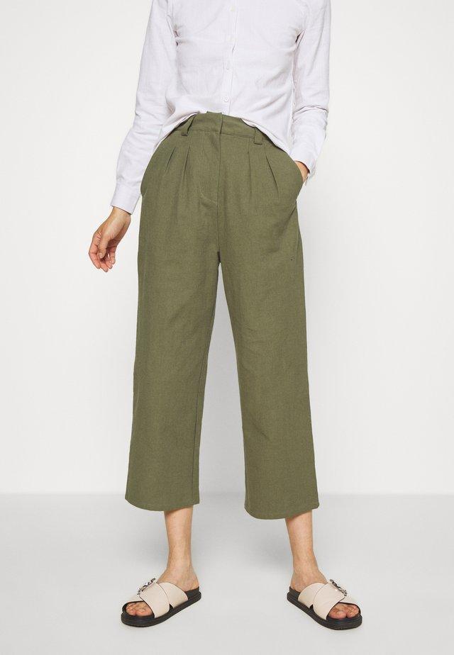 7/8 PANT - Spodnie materiałowe - olive