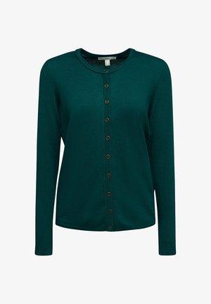 BASIC  - Cardigan - dark teal green