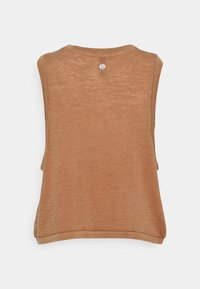 Cotton On Body - ALL THINGS FABULOUS CROPPED MUSCLE TANK - Top - cashew washed - 1