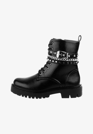 OVINDOLI - Cowboy/biker ankle boot - black
