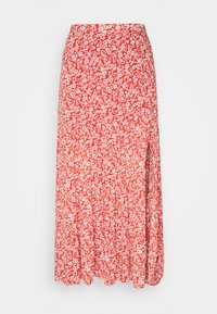 Abercrombie & Fitch - TIERED HIGH SLIT MAXI SKIRT - Maxi sukně - red - 3