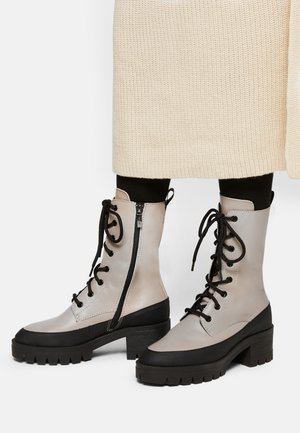 Lace-up boots - taupe/black