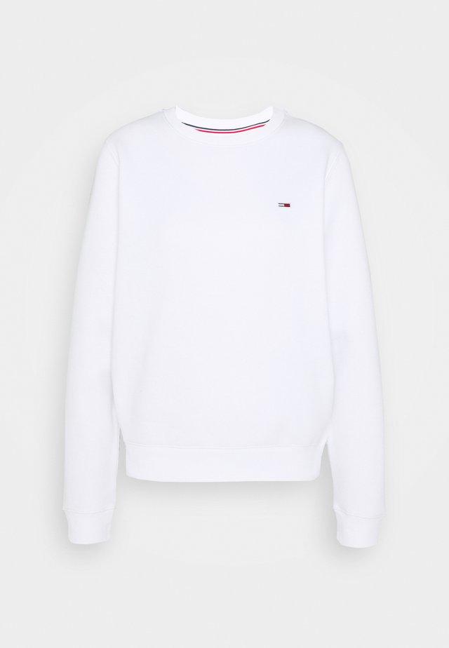 REGULAR C NECK - Sweatshirt - white