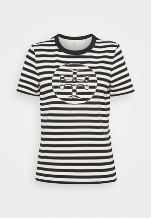 STRIPED LOGO  - T-shirts med print - black