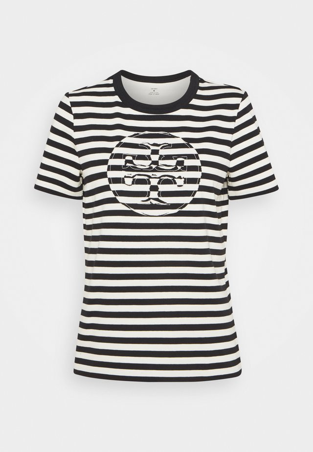 STRIPED LOGO  - Print T-shirt - black