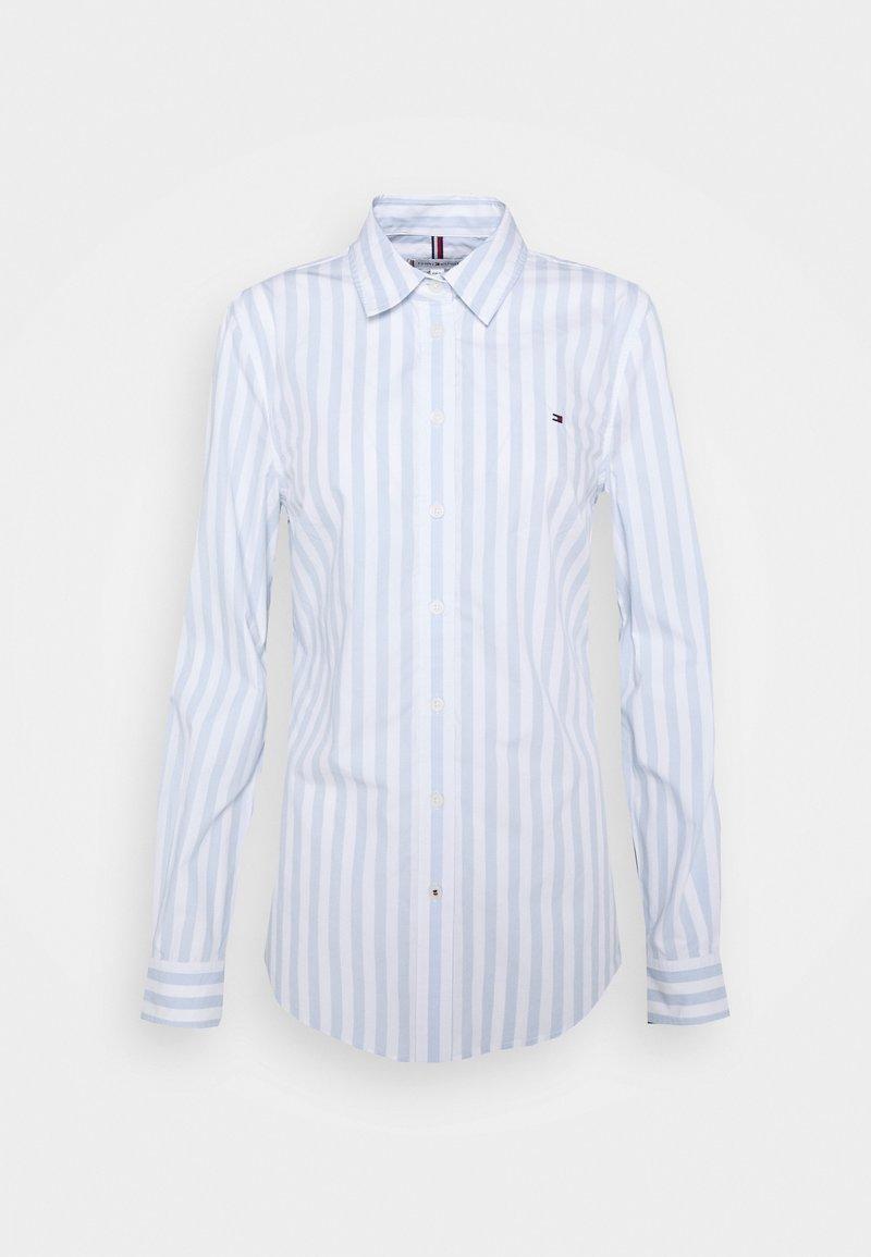 Tommy Hilfiger - REGULAR SHIRT - Button-down blouse - banker/breezy blue