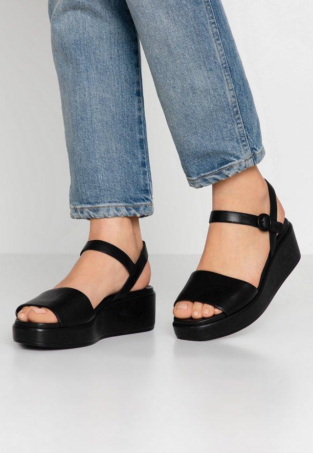 MISIA - Korkeakorkoiset sandaalit - black
