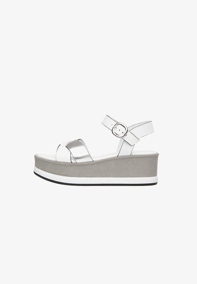 Sandalias con plataforma - bianco