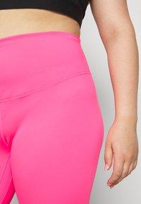 Nike Performance - ONE PLUS  - Leggings - hyper pink/white - 4