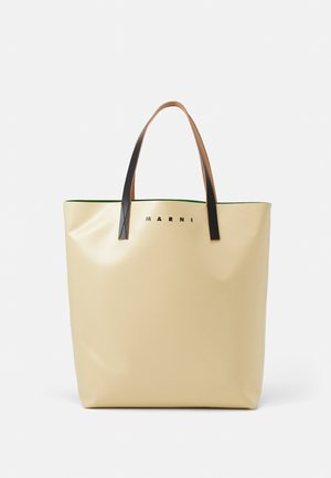 UNISEX - Tote bag - soft beige/garden green/black