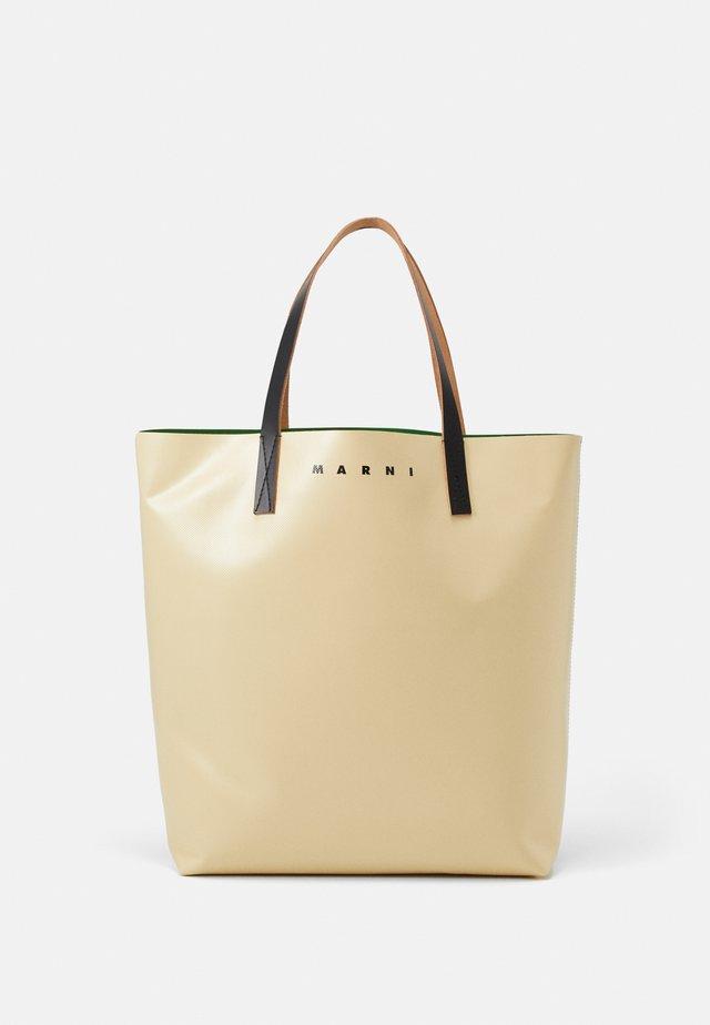 UNISEX - Tote bag - soft beige/garden green/black