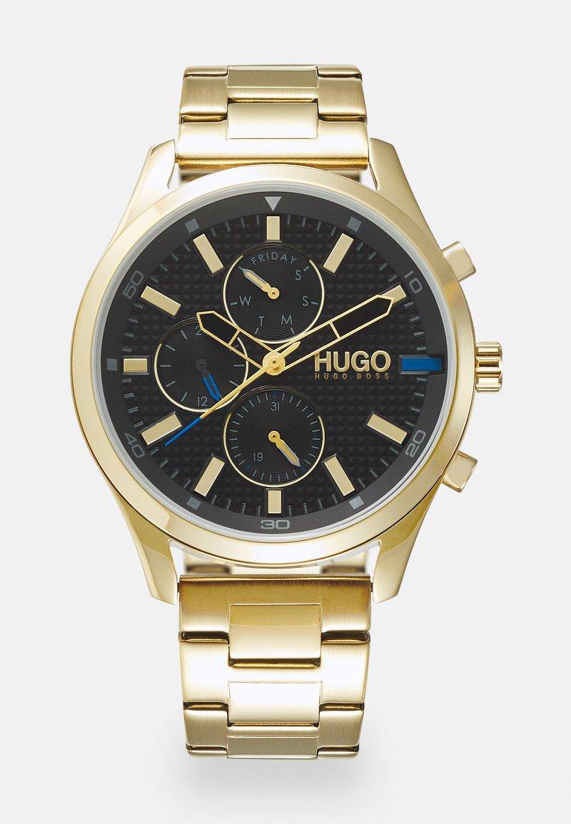 HUGO - CHASE - Rannekello ajanottotoiminnolla - gold-coloured/black