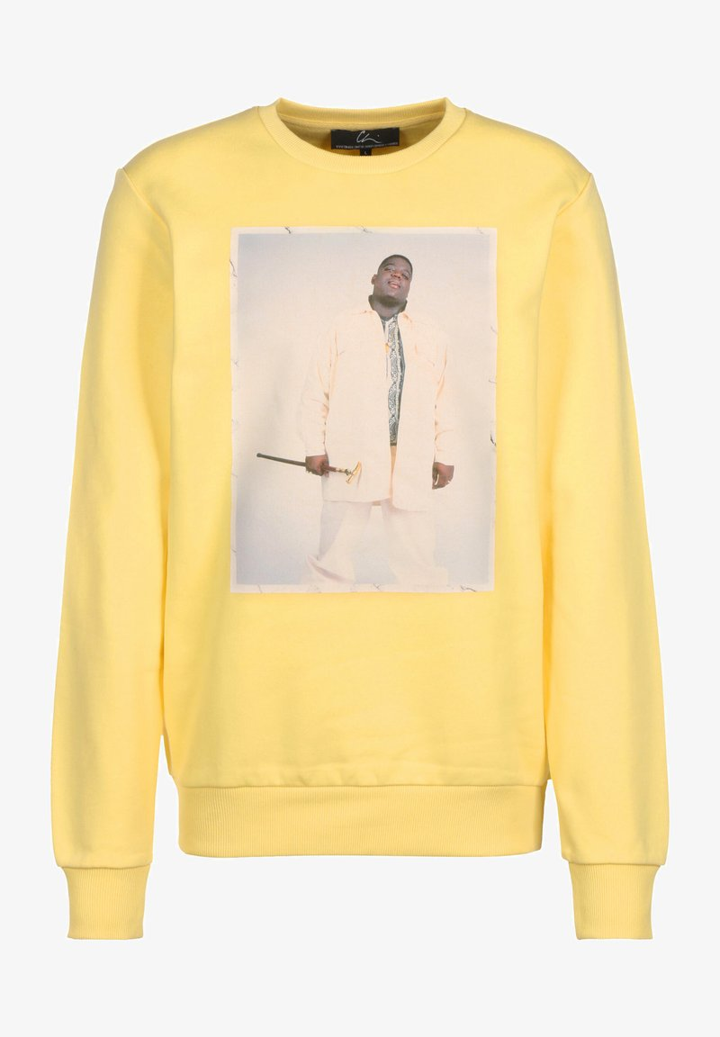 Chi Modu - HOODIE BK 2 - Sweatshirt - pastelle yellow/print white