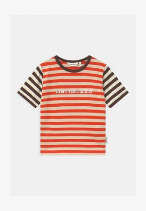 LEUTO TASARAITA UNISEX - Print T-shirt - orange red/light beige