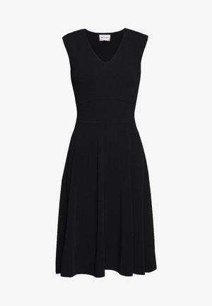 PEEK A BOO SHOULDER DRESS - Jersey dress - black