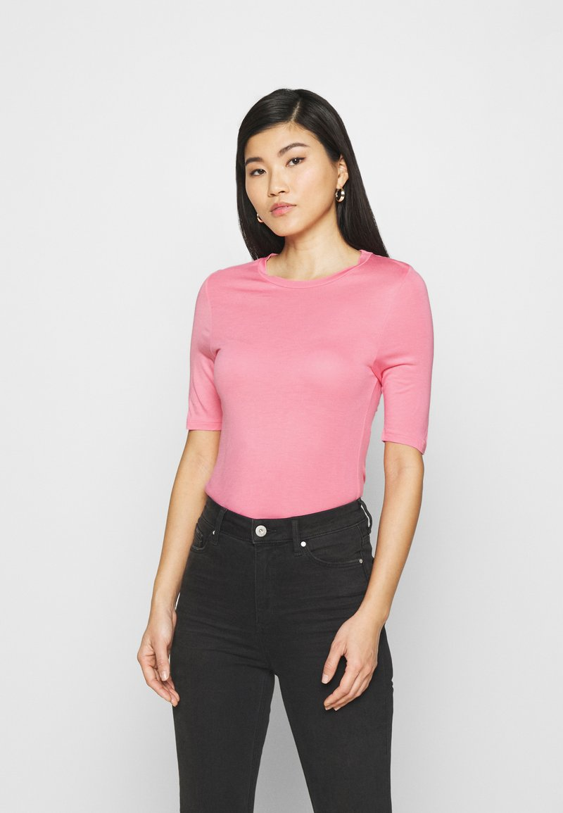 Marks & Spencer London - HIGH NECK TOP - Basic T-shirt - light pink