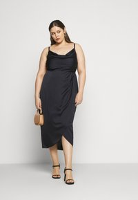 Forever New Curve - HOLLY COWL NECK MIDI DRESS - Cocktail dress / Party dress - navy - 1