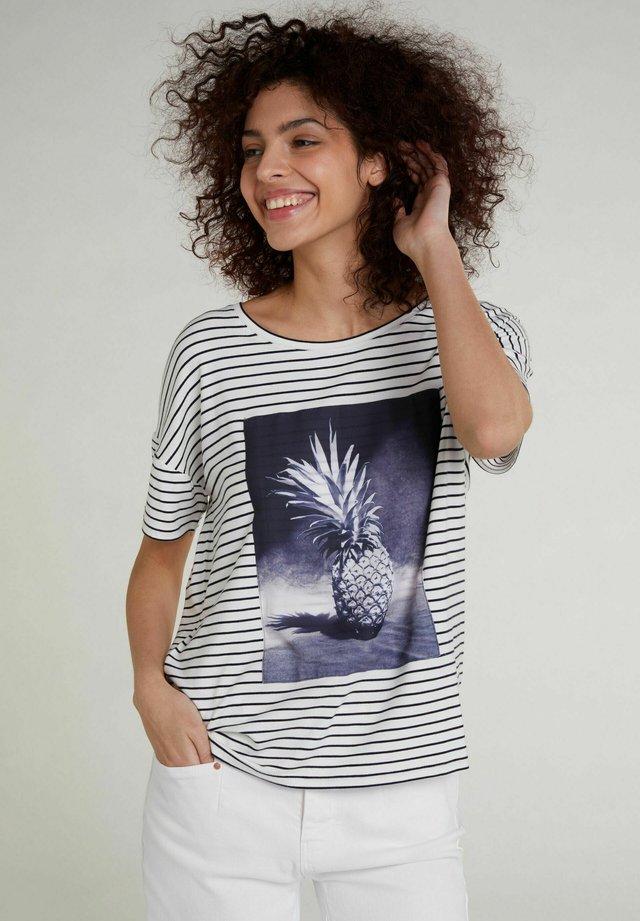 T-shirt imprimé - white blue