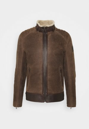WESTLAKE JACKET - Leather jacket - chocolate brown
