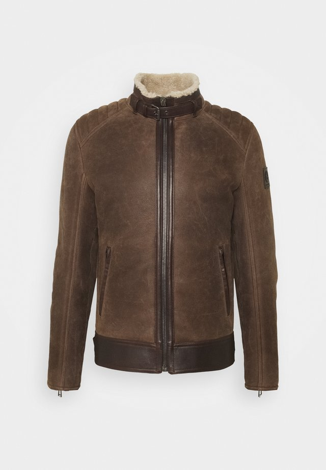 WESTLAKE JACKET - Kožená bunda - chocolate brown