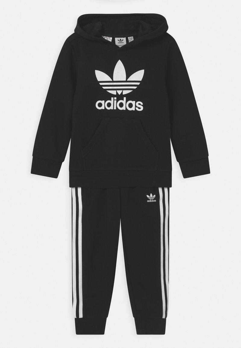 adidas Originals - HOODIE SET UNISEX - Trainingspak - black/white