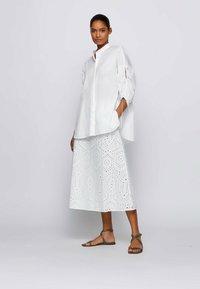 BOSS - VAJOUR - A-line skirt - white - 1