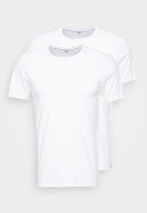 SLIM CREWNECK 2 PACK - Basic T-shirt - white/white