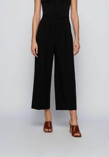 TAYAMANA - Trousers - black