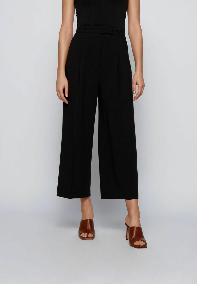 BOSS - TAYAMANA - Trousers - black
