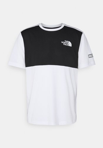 HYBRID TEE - T-shirt med print - white/black