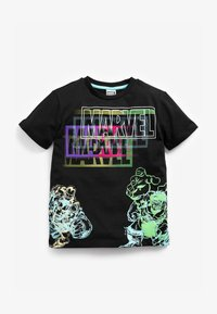 Next - MARVEL FLURO T-SHIRT - Print T-shirt - black - 0