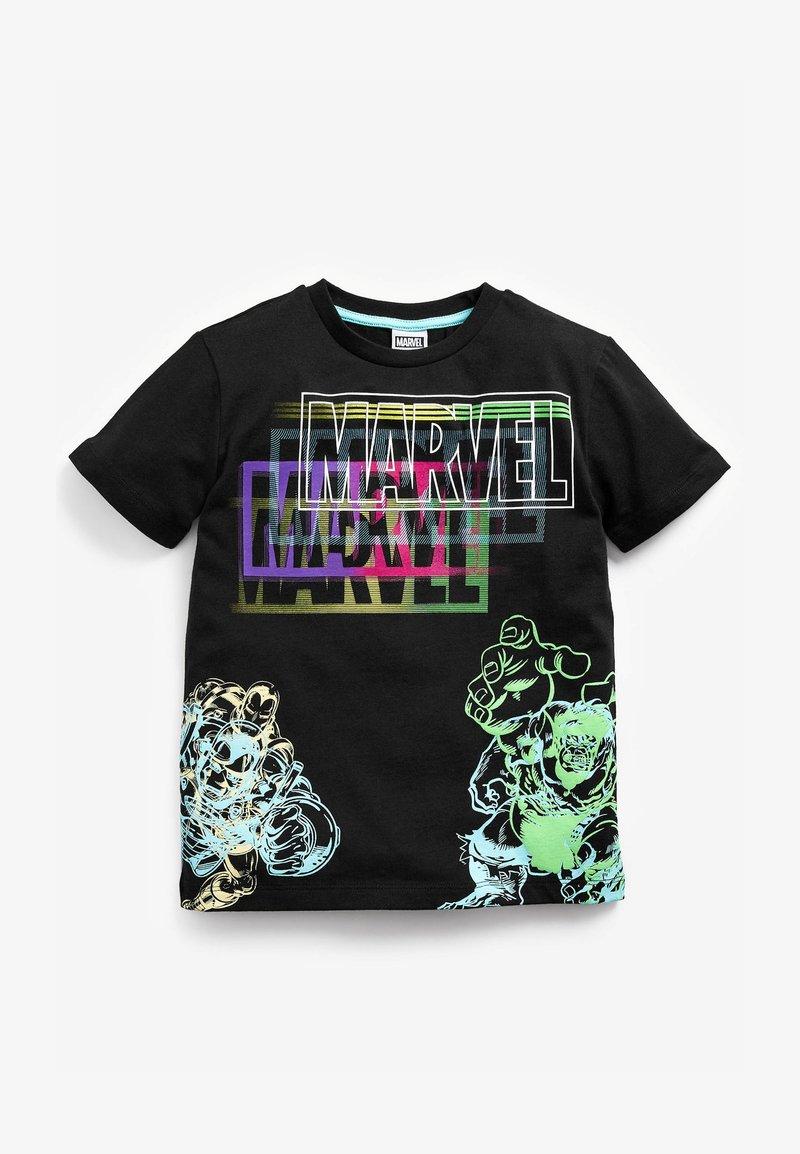 Next - MARVEL FLURO T-SHIRT - Print T-shirt - black